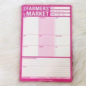 Farmers Market Grocery / Shopping Notepad